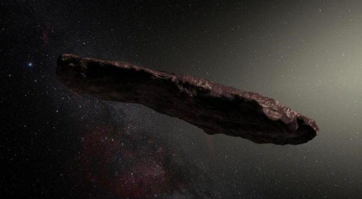 Artist's impression of 'Oumuamua. Source: ESO / M. Kornmesser