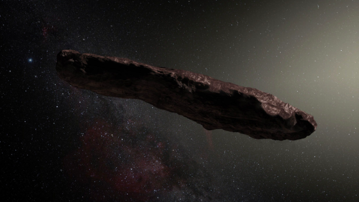 Artist's impression of 'Oumuamua. Source: ESO / M. Kornmesser.