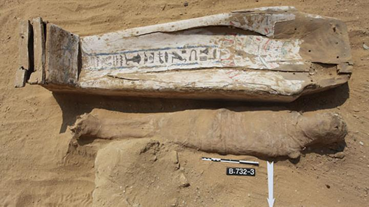 Approx. 2 thousand years old burials discovered during the last Polish excavations in Saqqara. Photo: J. Dąbrowski/PCMA
