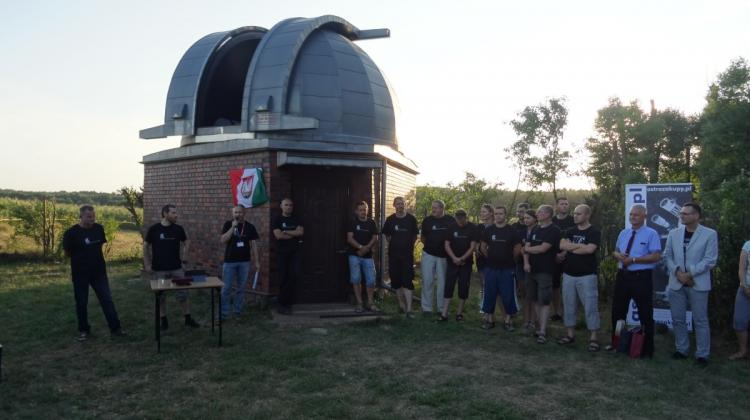 Inauguration of 60 cm telescope in Niedźwiady (08.13.2015) Photo by K. Czart.