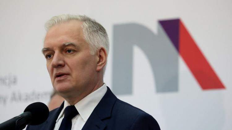 Deputy Prime Minister, Minister of Science and Higher Education Jarosław Gowin during the press conference summarizing two years of the ministry's work. Photo: PAP/Tomasz Gzell 15.11.2017