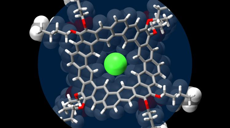 A model of crown-like  hydrocarbon with bound chloride. Fig. Marcin Majewski