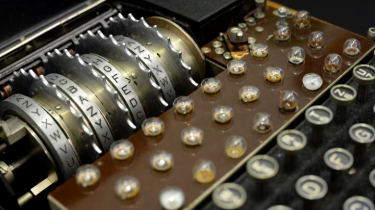 Enigma encryption machine. Photo: PAP/ Jacek Turczyk 22.11.2013