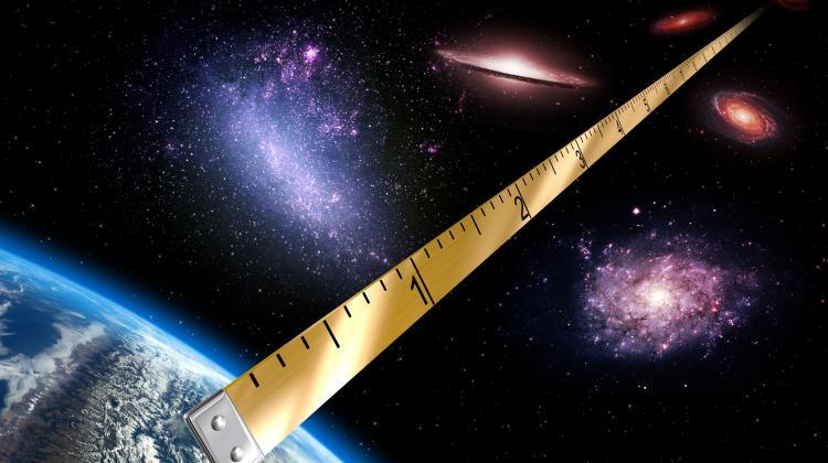 The method of measuring the distance developed by Prof. Grzegorz Pietrzyński's team is often called the Polish cosmic ruler. Source: Grzegorz Pietrzyński