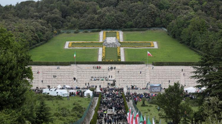 Monte Cassino, Italy, May 18, 2019. Preparations for the celebration of the 75th anniversary of the end of the battle at the Polish war cemetery at Monte Cassino. (pkus) PAP/Leszek Szymański